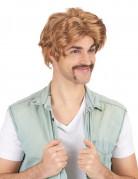 Parrucca corta castana per uomo