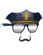 Occhiali con baffi poliziotto adulto