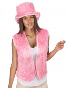 Gilet peluche rosa adulto