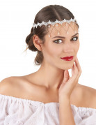 Diadema bianco donna