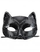 Maschera gatto nero per adulto
