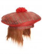 Berretto scozzese con pompon adulto