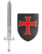 Kit scudo e spada cavaliere crociato