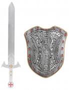 Kit scudo e spada crociato bambino