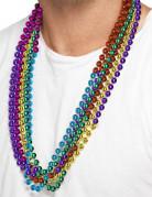 6 collane multicolore adulto