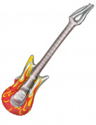 Chitarra rock con fiamme gonfiabile