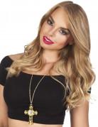 Collana con croce dorata per donna
