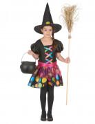 Costume streghetta colorata bambina