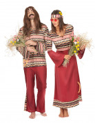 Travestimento coppia hippie bordeaux