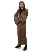 Mantello marrone con cappuccio