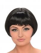 Parrucca nera corta da donna