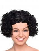 Parrucca bruna corta riccia donna