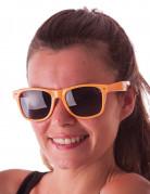 Occhiali blues fluo arancione adulto