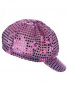 Cappello con visiera stile disco viola per adulto