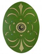 Scudo romano verde e dorato in legno 35 x 49 cm