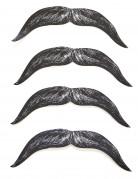 Confezione di 4 baffi in cartone da bambino