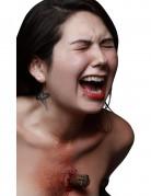 Trucco Halloween: ferita piolo conficcato in petto
