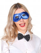 Maschera blu metallizzata elettrico adulto