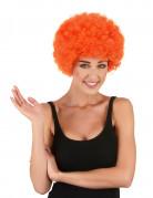 Parrucca afro/clown arancione per adulto