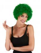 Parrucca afro/clown verde standard per adulto