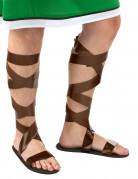 Sandali da romano marroni per adulti