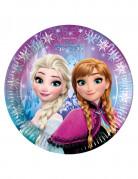 Confezione di 8 piatti in cartone Elsa Frozen™ per compleanno