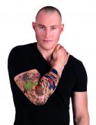 Manica con finto tatuaggio clown per uomo