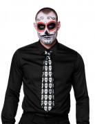Cravatta scheletro colorata adulto Dia de los muertos