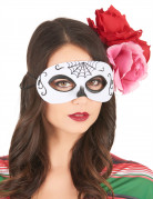 Maschera Dia de Los Muertos bianca e nera