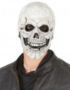 Maschera in lattice da scheletro beffardo per adulto