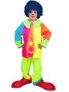 Costume clown fluo da bambino