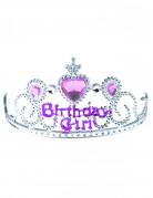Diadema Birthday girl argento e rosa