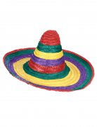 Sombrero messicano multicolore adulto
