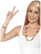 Braccialetto e collana hippie colorati adulta