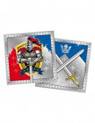20 Tovagliolini di carta Cavalieri medievali