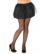 Tutù nero con sottogonna opaca da donna