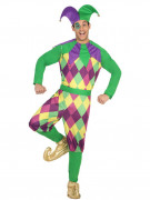 Costume da jolly viola uomo