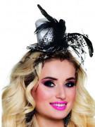 Mini cappello seducente con piume adulto
