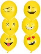 6 palloncini in lattice Imoji™ 24 cm