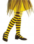 Collants a righe gialle e nere bambina