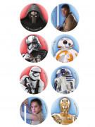 16 Mini dischi in zucchero Star Wars™ 3,4 cm