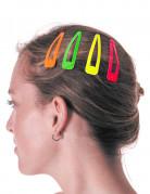 4 fermagli per capelli colorati