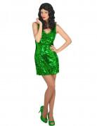 Costume vestito disco sexy verde donna