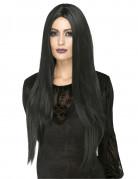 Parrucca termoresistente lunga nera donna