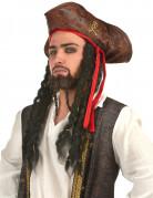 Cappello pirata con finti capelli
