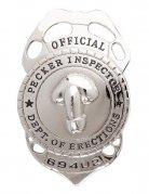 Distintivo da poliziotto monello umoristico