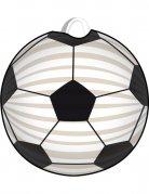 Lanterna pallone da calcio bianco e nero
