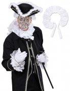 Collare bianco satinato stile barocco