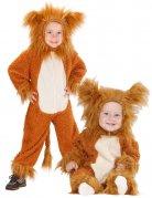Costume leone in peluche per bambino