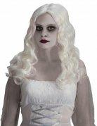 Parrucca lunga bianca da fantasma halloween
